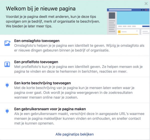 Paginatips van Facebook
