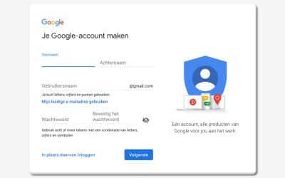 Google Account aanmaken