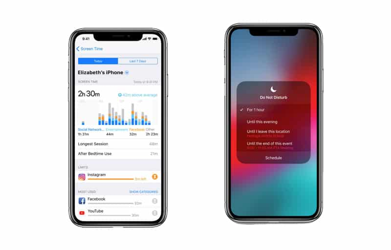 iPhone X Screen Time en Do Not Disturb